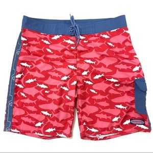 Vineyard Vines School Of Fish Whale Board Shorts